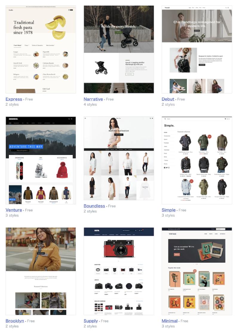 Shopifyのテーマ